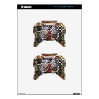 Bearded Lady Vintage Canival Banner Xbox 360 Controller Skin