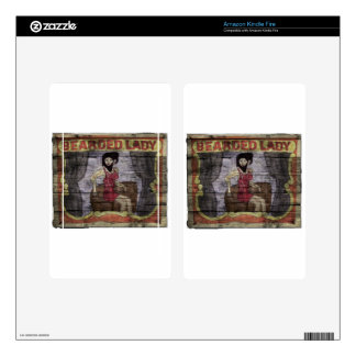 Bearded Lady Vintage Canival Banner Kindle Fire Decals
