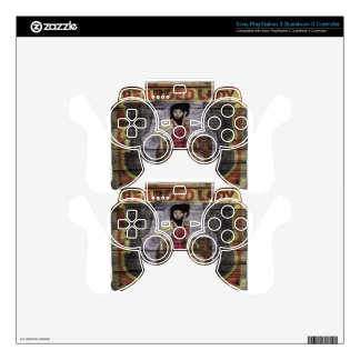 Bearded Lady Vintage Canival Banner PS3 Controller Decal