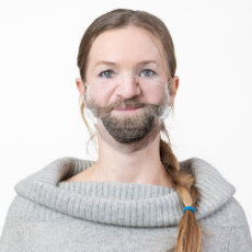bearded male man cloth face mask