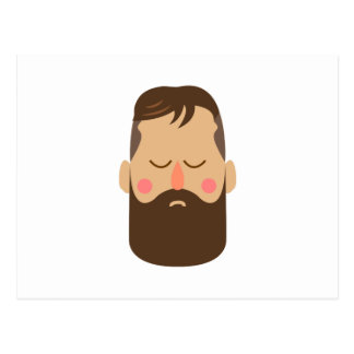 Bearded Man Postcard
