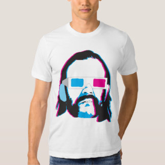 Bearded Man with 3D Glasses Shirt