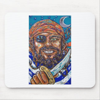 bearded pirate mouse pad