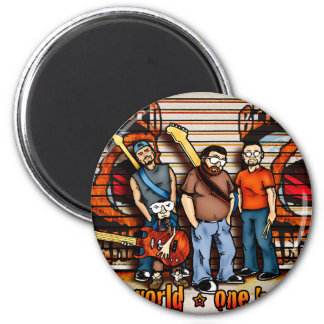 Bearded Planet Band Pic 2 Inch Round Magnet