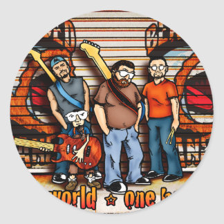 Bearded Planet Band Pic Classic Round Sticker