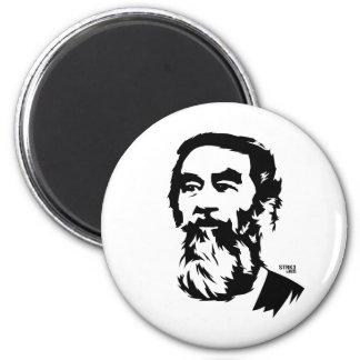 Bearded Saddam Hussein Portrait Magnet