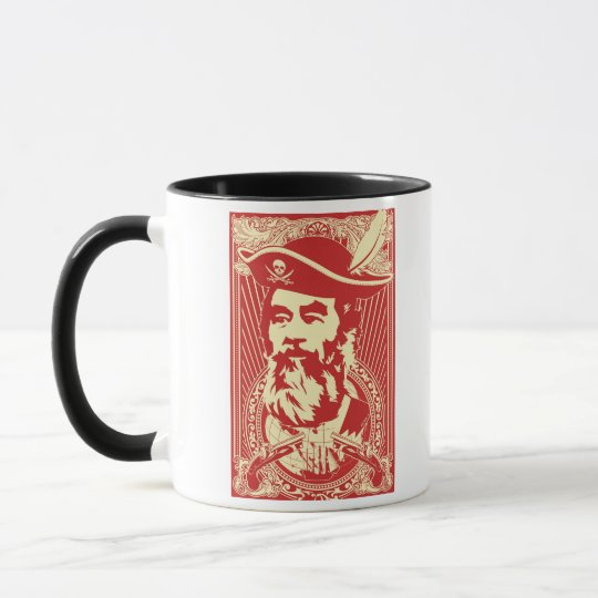 Bearded Saddam Hussein Portrait Mug
