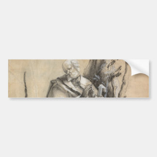 Bearded Saint in a Forest by Albrecht Durer Bumper Sticker