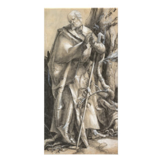 Bearded Saint in a Forest by Albrecht Durer Customized Photo Card