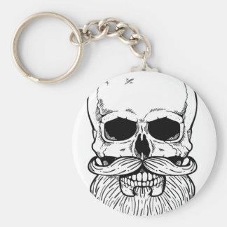 Bearded skull keychain