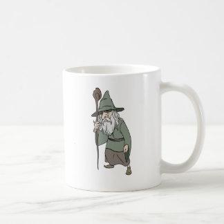 Bearded Wizard with Wizard's Staff Coffee Mug