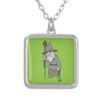 Bearded Wizard with Wizard's Staff Custom Jewelry