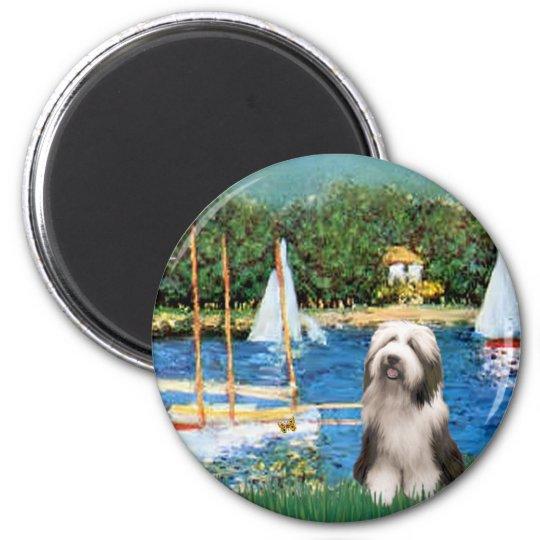 Beardie 1 - Sailboats Magnet