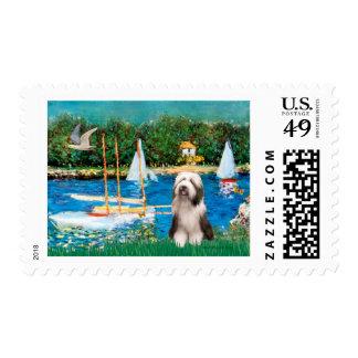 Beardie 1 - Sailboats Postage