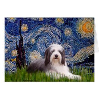 Beardie 2 - Starry Night Card