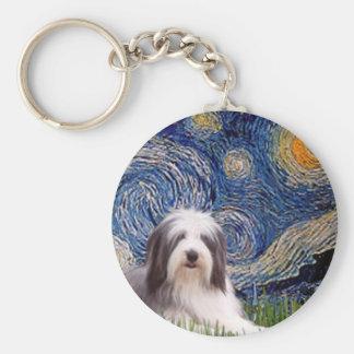 Beardie 2 - Starry Night Keychain