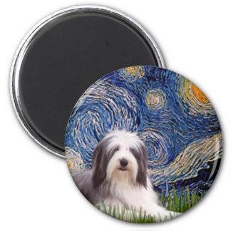 Beardie 2 - Starry Night Magnet