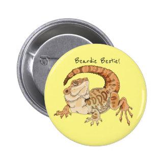 Beardie Bestie! Pinback Button