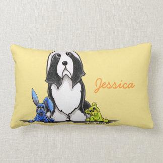 Beardie Dog Custom Color Personalized Girl Lumbar Pillow