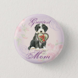 Beardie Heart Mom Button