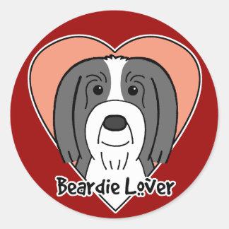 Beardie Lover Stickers