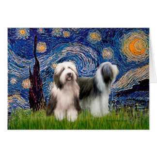 Beardie Pair 1 - Starry Night Card