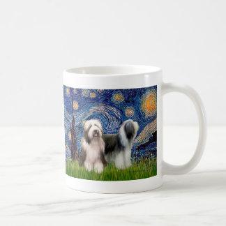 Beardie Pair 1 - Starry Night Classic White Coffee Mug