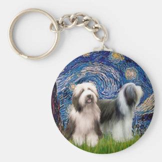 Beardie Pair 1 - Starry Night Keychain