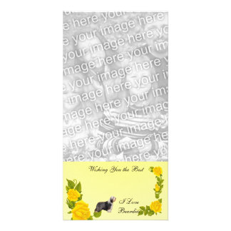 Beardies and Yellow Roses Card