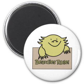 Beardies Rule! 2 Inch Round Magnet