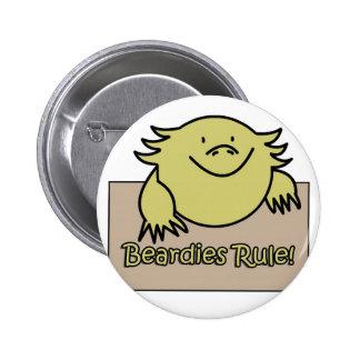 Beardies Rule! Pinback Button