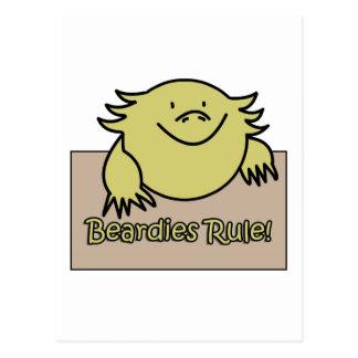 Beardies Rule! Postcard