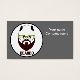 Beardo panda business card