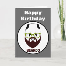 Beardo panda happy birthday card