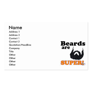 beards are super business card
