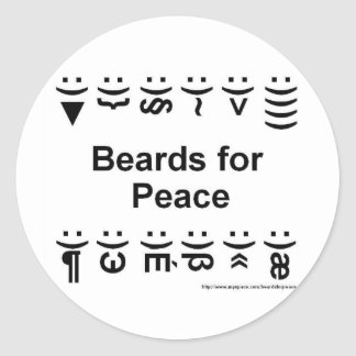 beards for peace stickers