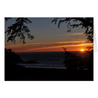Beards Hollow at Sunset Stationery Note Card