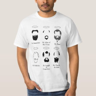 Beards of the Saints version 2 mens t shirt