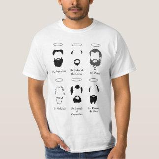 Beards of the Saints version 2 mens t shirt