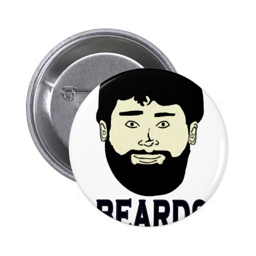 BEARDS - They grow on you 2 Inch Round Button