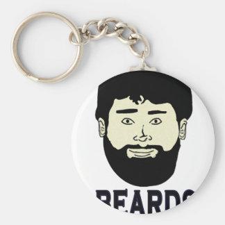 BEARDS - They grow on you Keychain