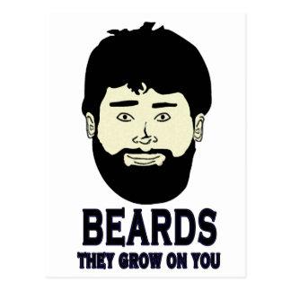 BEARDS - They grow on you Postcard