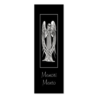 Beardsley Angel Mourning Card Double-Sided Mini Business Cards (Pack Of 20)