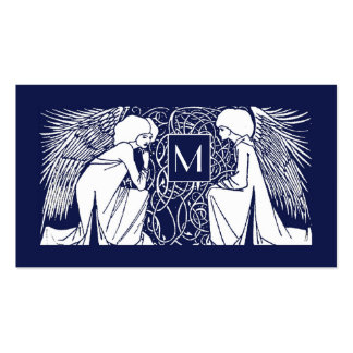 Beardsley Angels Monogram Mommy Calling Card Business Card Templates