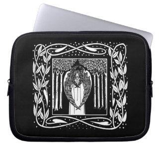 Beardsley Art Noueau Angel Laptop Sleeve
