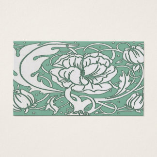 Beardsley Art Nouvea Peony Standard  Business Card