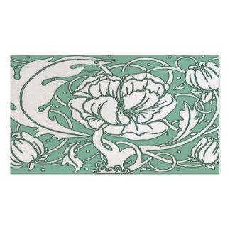Beardsley Art Nouvea Peony Standard  Business Card