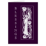 Beardsley Art Nouveau Angel Holiday Card