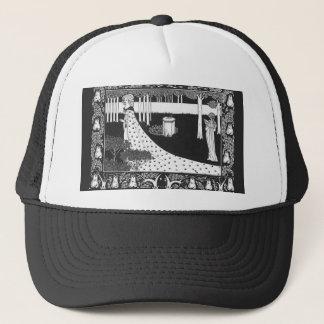 Beardsley Art Nouveau Black and White Woman Trucker Hat