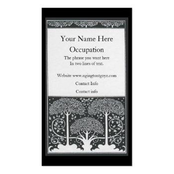Beardsley Black and White Trees Border Business Card